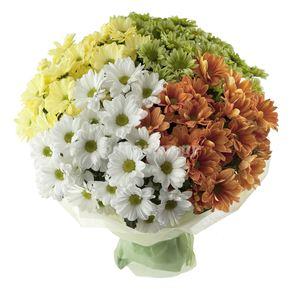 """Букет из хризантем """"Гармония"""" — Букеты цветов заказать с доставкой в KievFlower.  Артикул: 1237"""