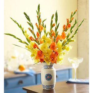 Сезонный букет - гладиолусы — Букеты цветов заказать с доставкой в KievFlower.  Артикул: 0778
