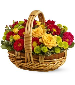 "Корзинка ""Наша Осень"" — Букеты цветов заказать с доставкой в KievFlower.  Артикул: 0629"