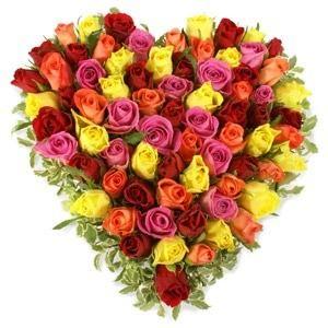 """Сердце """"Моей Королеве"""" — Букеты цветов заказать с доставкой в KievFlower.  Артикул: 0435"""