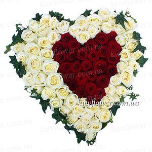 """""""Ты одна в моем сердце"""" — Букеты цветов заказать с доставкой в KievFlower.  Артикул: 0816"""