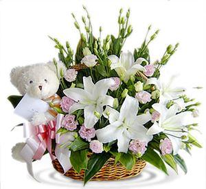 """Корзина """"Передаю тебе Привет.."""" — Букеты цветов заказать с доставкой в KievFlower.  Артикул: 0687"""