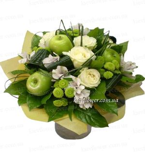 """Букет """"Яблочко"""" — Букеты цветов заказать с доставкой в KievFlower.  Артикул: 0505"""
