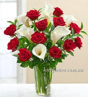 """Букет """"Зимняя Вишня"""" — Букеты цветов заказать с доставкой в KievFlower.  Артикул: 0603"""