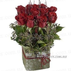 """Композиция из роз """"Лючия"""" — Букеты цветов заказать с доставкой в KievFlower.  Артикул: 1268"""