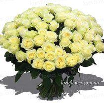 "101 белая роза ""Сеньорита"""
