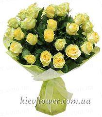 Букет желтых роз -19
