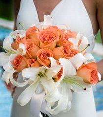 Букет невесты из роз и лилий № 4