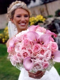 Букет невесты из калл и роз № 12