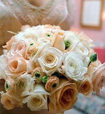 Букет невесты розы и анемоны№13