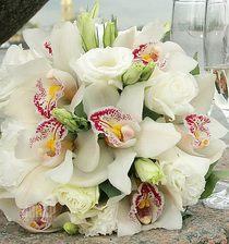 Букет невесты из орхидей № 30