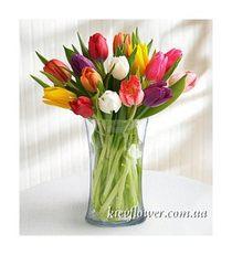 Купить букет из 17 тюльпанов киев — img 13