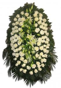 Траурный венок  из роз и лилий — Kievflower - Доставка цветов