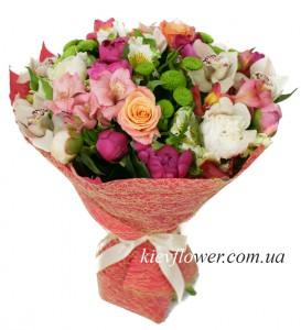 Цветы, улыбка, счастье — Kievflower - Доставка цветов