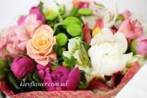 Цветы, улыбка, счастье